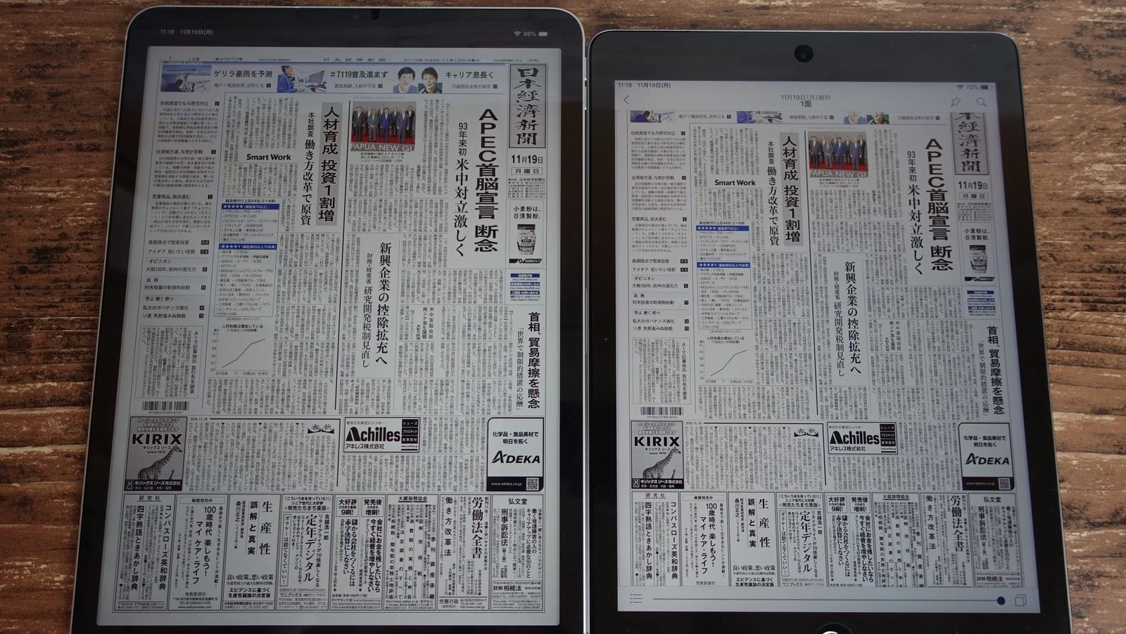 iPad Pro 11インチディスプレイ